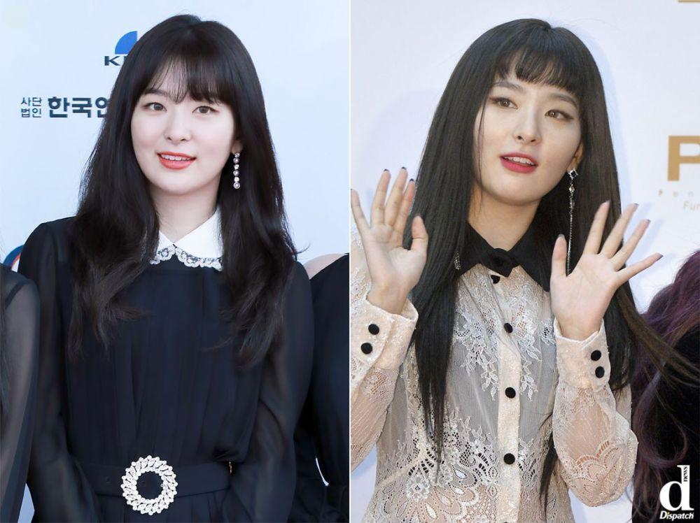 So với kiểu tóc mái thưa, rõ ràng kiểu mái này đã giúp Seulgi nhìn cá tính và năng động hơn