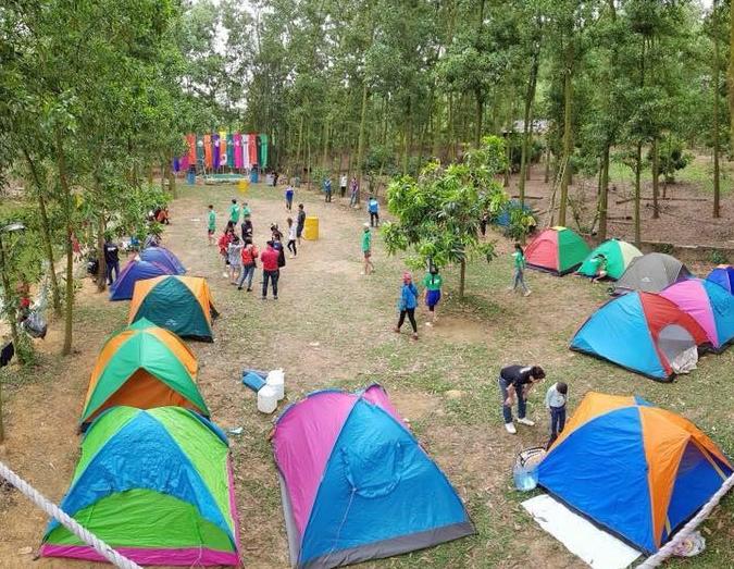 Không chỉ dịp nghỉ lễ, cuối tuần bạn hoàn toàn có thể cùng gia đình đến cắm trại tại My Hill