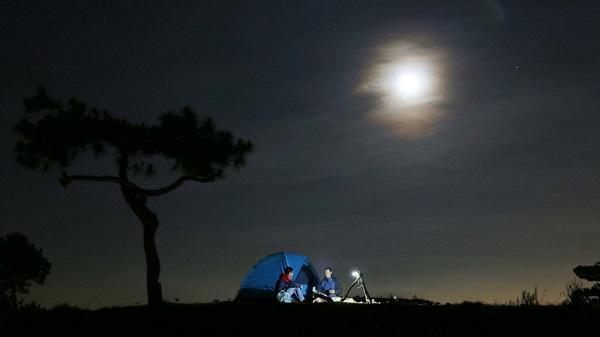Lên đồi Thiên Phúc Đức cắm trại ngắm toàn cảnh Đà lạt về đêm