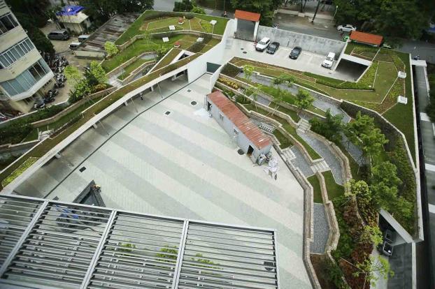 Bên trong ngôi nhà Xanh LHQ tại Việt Nam được giải thưởng công trình xanh thế giới
