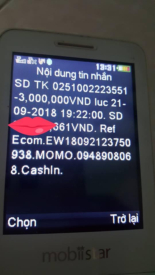 Chị N. đã bị kẻ gian thực hiện việc chuyển tiền trong ví MoMo rất nhiều lần.