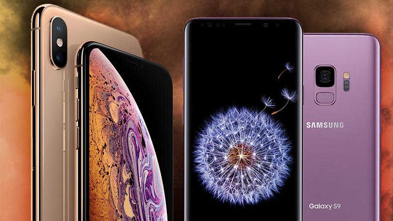 Video so sánh 2 bom tấn smartphone: iPhone Xs Max và Galaxy S9 gây sốt mạng
