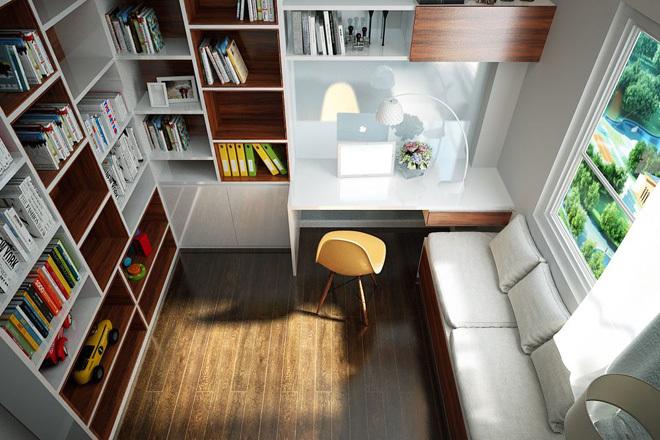 Thiết kế thông minh cho không gian làm việc chỉ 3m2