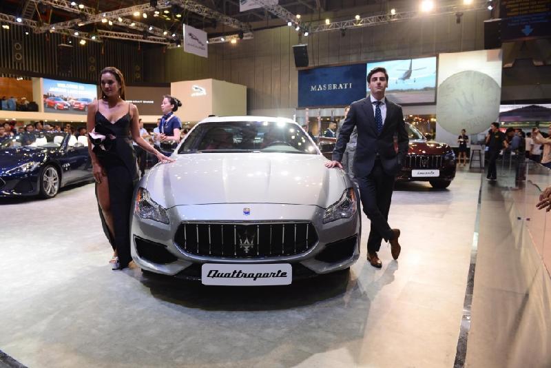 Chiêm ngưỡng dòng xe sang Maserati của Ý tại triển lãm ô tô Việt Nam 2018