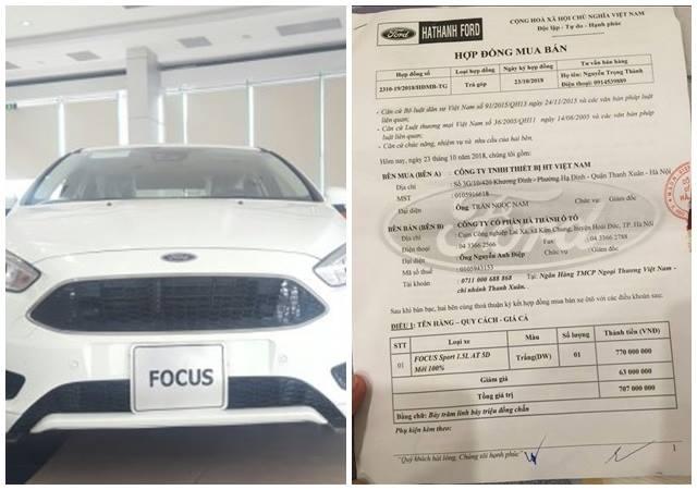 Khách hàng bức xúc vì ký hợp đồng mua xe mới nhưng lại bị Ford Hà Thành giao xe trưng bày