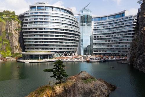 Khách sạn Mỏ đá Shimao cao tầng ngầm đầu tiên trên thế giới