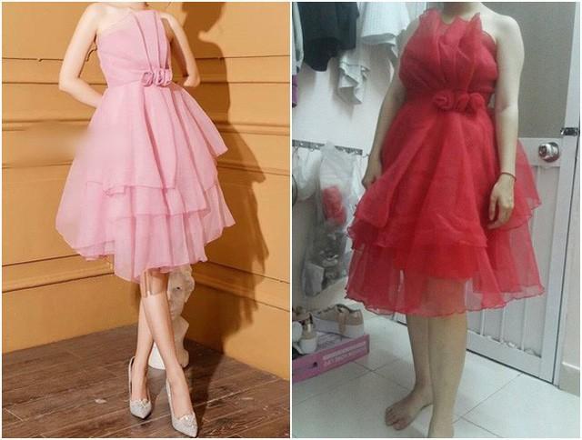 Nhìn qua thì hai chiếc váy cũng có nét giống nhau về kiểu cách nhưng rõ ràng là khác nhau một trời một vực.