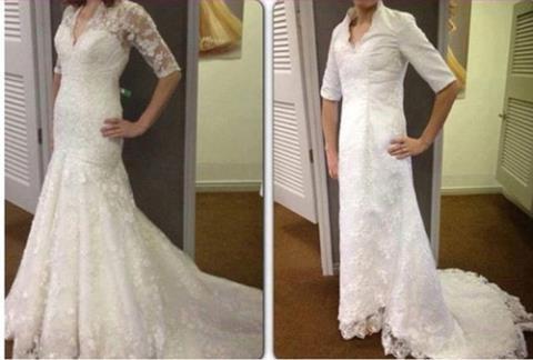 Chiếc váy trong hình ảnh quảng cáo so với hình ảnh thực tế khác nhau khá nhiều từ kiểu dáng đến chất liệu vải.