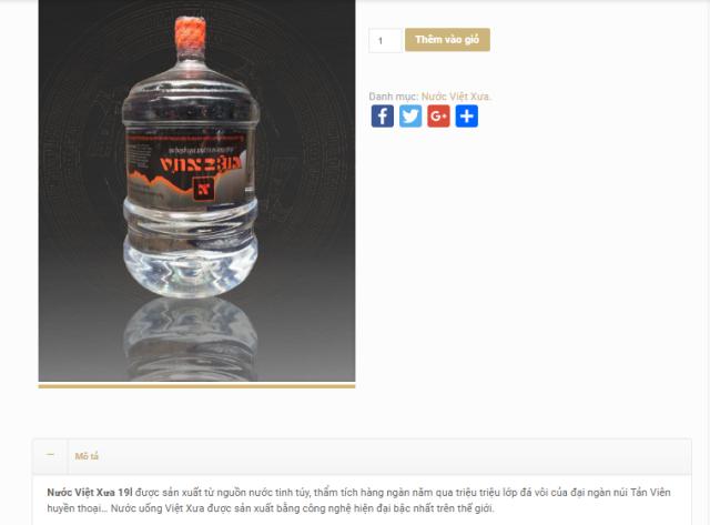 """Các chuyên gia cho rằng thông tin quảng cáo sản phẩm nước của Cty CP Đầu tư và Phát triển Việt Xưa đang có dấu hiệu """"đánh lừa"""" người tiêu dùng."""