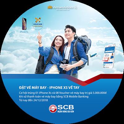 Cùng SCB đặt vé máy bay - iPhone Xs về tay