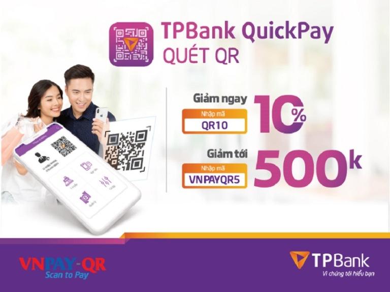 Chương trình giảm giá hấp dẫn Quickpay dành cho khách hàng TPBank
