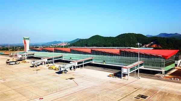 Toàn cảnh sân bay nhà ga.