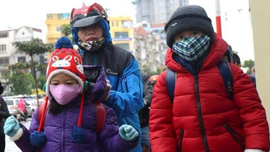 Sở GD&ĐT Hà Nội yêu cầu các cơ sở lên kế hoạch ứng phó rét đậm cho học sinh