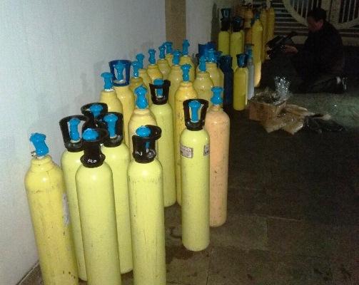 Thu giữ 64 bình chứa khí
