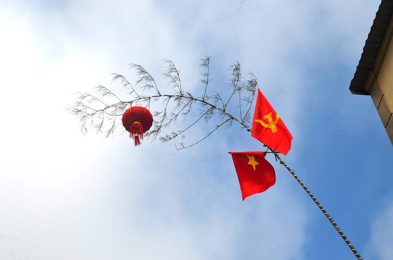Muôn kiểu trang trí cây nêu đón tết của người dân Nghệ An