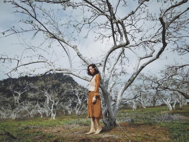 Ngắm hoa mận Mộc Châu những ngày cuối năm đẹp bình yên trong bộ ảnh của cô gái trẻ 3
