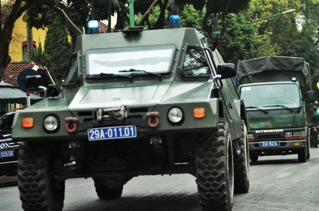 Các phương tiện, khí tài được huy động. Đặc biệt, ngoài Trung đoàn CSCĐ Hà Nội, Bộ Công an cũng huy động 500 chiến sĩ tham gia kế hoạch.