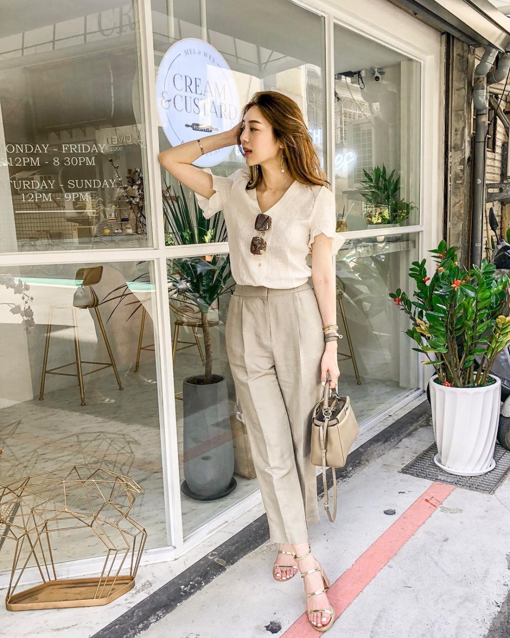 Style thời trang vừa đơn giản lại sang chảnh đón Xuân Hè 2019