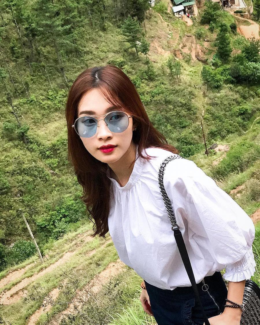 Diện trang phục màu trung tính đẹp như mơ của Hoa hậu Đặng Thu Thảo