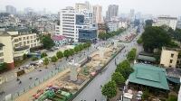 Hà Nội phân luồng giao thông trên đường Trường Chinh phục vụ thi công đường vành đai II
