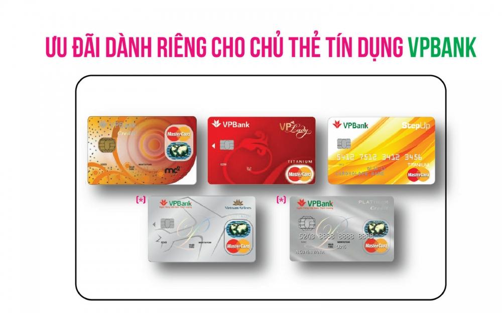 Ưu đãi hấp dẫn từ 10 loại thẻ tín dụng VPBank