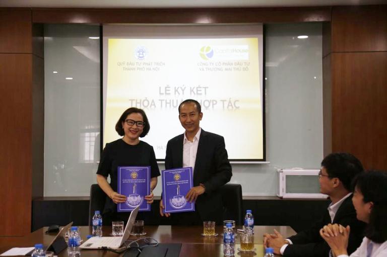 Lễ ký thỏa thuận hợp tác giữa Capital House và Quỹ Đầu tư Phát triển Thành phố Hà Nội