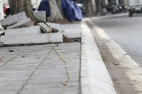 Hà Nội: Cận cảnh 1 trong hơn 100 tuyến phố lát vỉa hè bằng đá tự nhiên