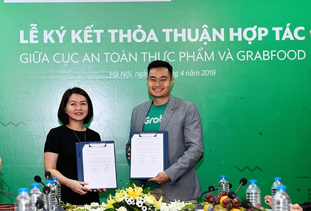 Grab ký thỏa thuận hợp tác với Cục An toàn thực phẩm