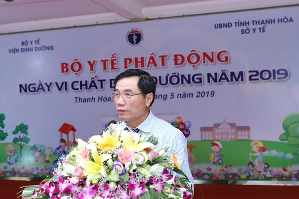 Ông Phạm Đăng Quyền – Phó Chủ tịch UBND tỉnh Thanh Hóa cam kết tỉnh Thanh Hóa sẽ tiếp tục cải thiện và đẩy mạnh việc bổ sung vi chất cho cộng đồng địa phương.