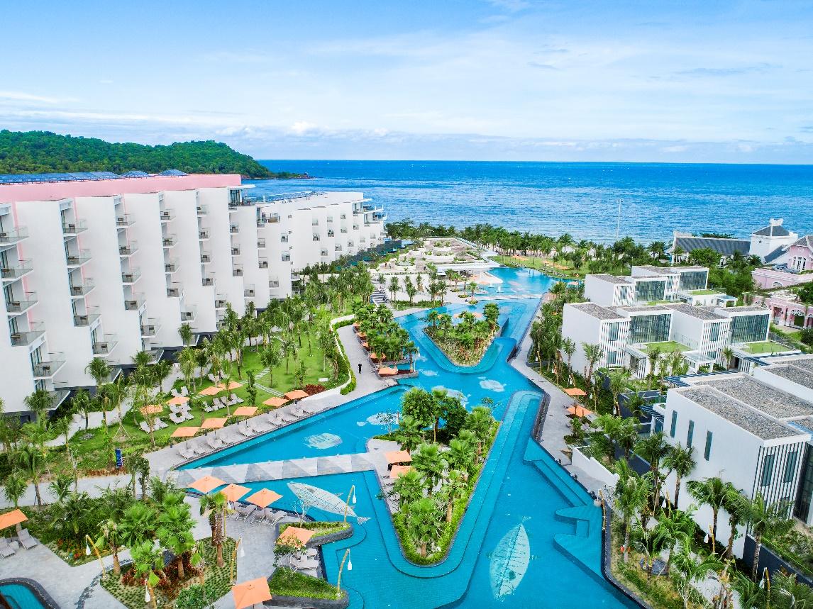 Resort hướng về phía biển xanh tuyệt đẹp
