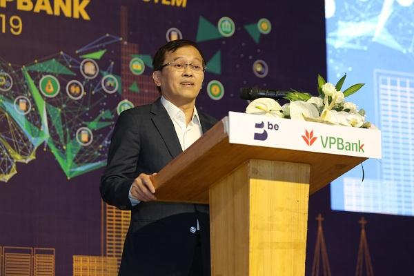 Ông Nguyễn Đức Vinh - Tổng Giám đốc ngân hàng VPBank phát biểu tại hội nghị.