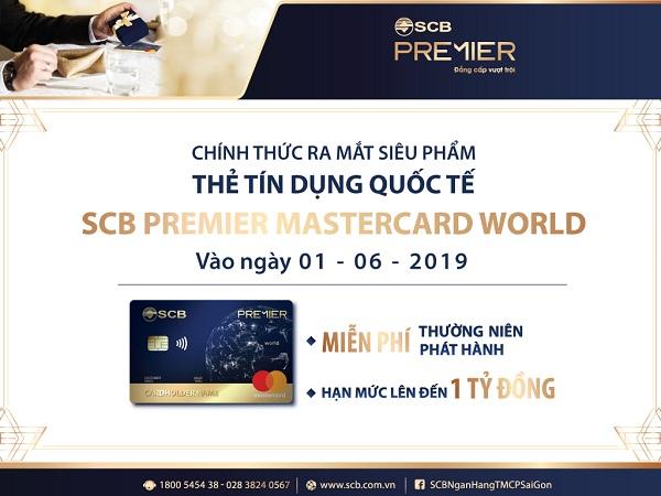 Chính thức ra mắt siêu phẩm thẻ tín dụng quốc tế SCB Premier Mastercard World