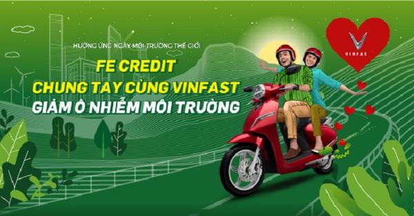 FE Credit chung tay cùng VinFast Klara giảm ô nhiễm môi trường