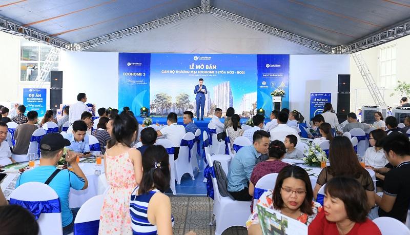 Lễ mở bán chính thức những căn hộ đẹp nhất EcoHome 3 đã có gần 100 giao dịch đượcp/chốt thành công.