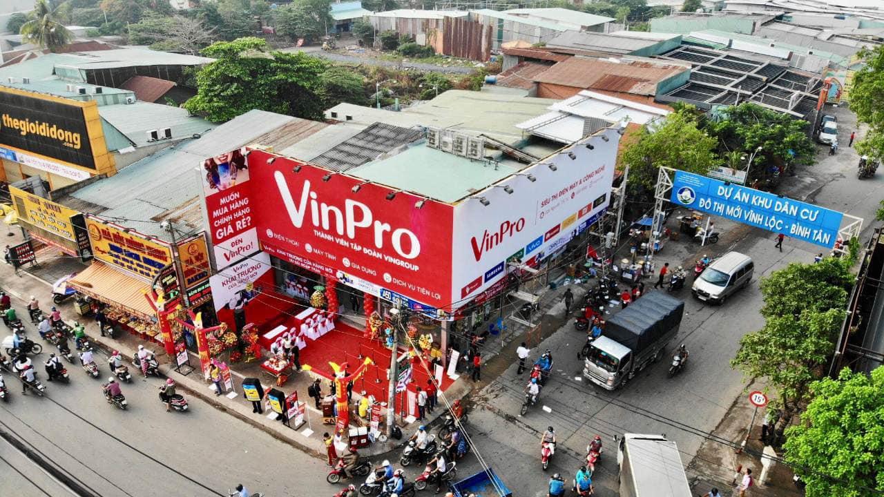 Điện máy VinPro đồng loạt khai trương 10 cửa hàng tại 5 tỉnh thành phố
