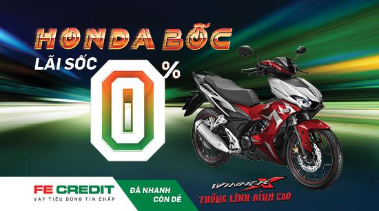 Mua xe Honda trả góp lãi suất sốc chỉ từ 0% với FE Credit