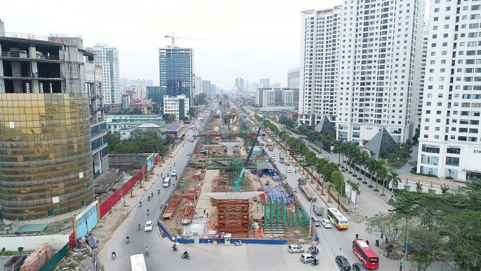 Hà Nội phân luồng giao thông phục vụ thi công cầu cạn đoạn Mai Dịch - Nam Thăng Long