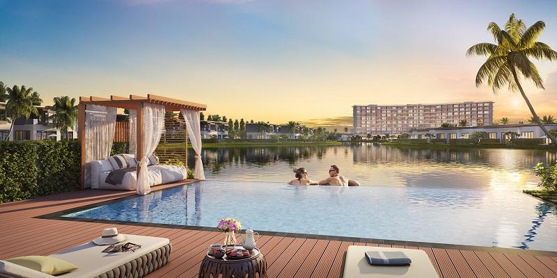 Trải nghiệm cuộc sống như thiên đường ngay tại đảo Ngọc tại bể bơi trải rộng trên khắp quần thể