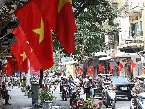 Hà Nội thông báo treo cờ Tổ quốc dịp Quốc khánh 2-9