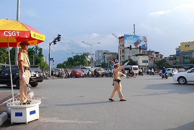 Hà Nội phân luồng giao thông phục vụ Diễn tập đảm bảo an ninh trật tự