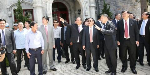 Thủ tướng Lào thăm Bà Nà Hills và làm việc với tập đoàn Sun Group