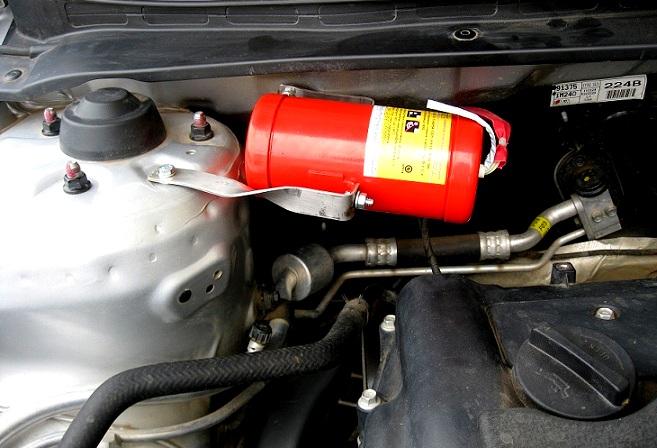 Không đặt bình chữa cháy trên ô tô phải chịu mức phạt như thế nào?