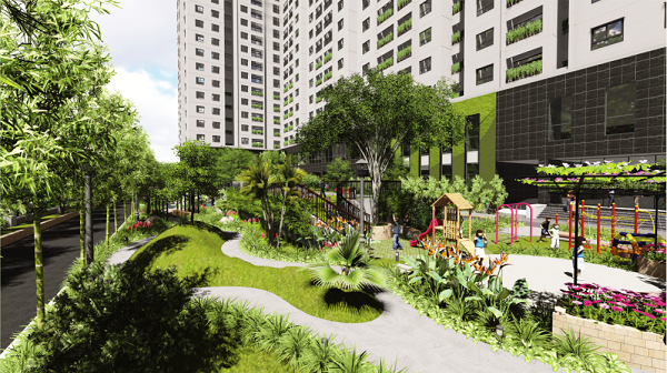 Không gian xanh trong dự án Ecolife Tây Hồ