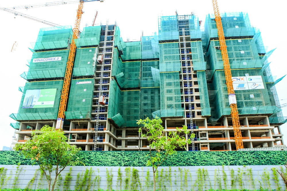 Dự án EcoLife Capitol đã thi công xong sàn tầng 22, đang thi công sàn tầng 23 của dự án.