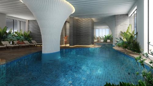 Dự án Ecolife Capitol thiết kế bể bơi nước mặn bốn mùa tại tầng 5 của dự án.