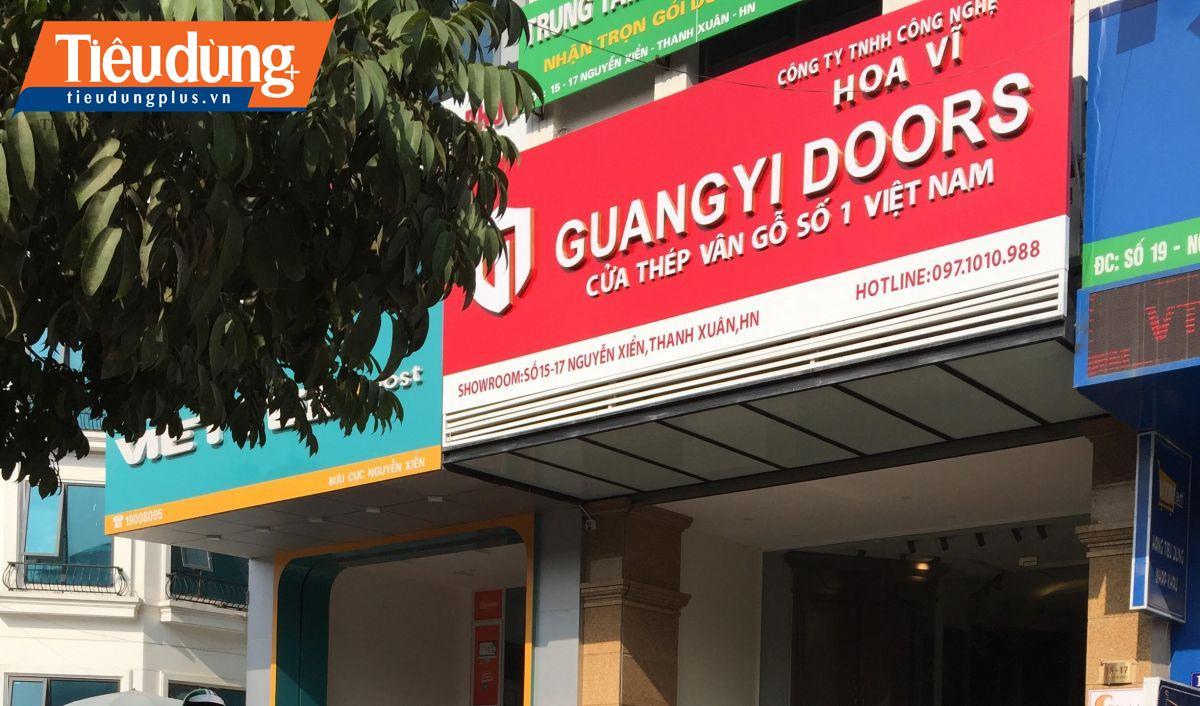 Cửa thép vân gỗ GUANGYI DOORS vi phạm luật quảng cáo,