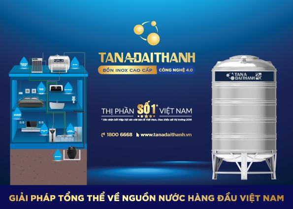 Bồn nước inox của Tân Á Đại Thành là 1 trong 3 sản phẩm xác lập kỷ lục số lượng tiêu thụ nhiều nhất Việt Nam