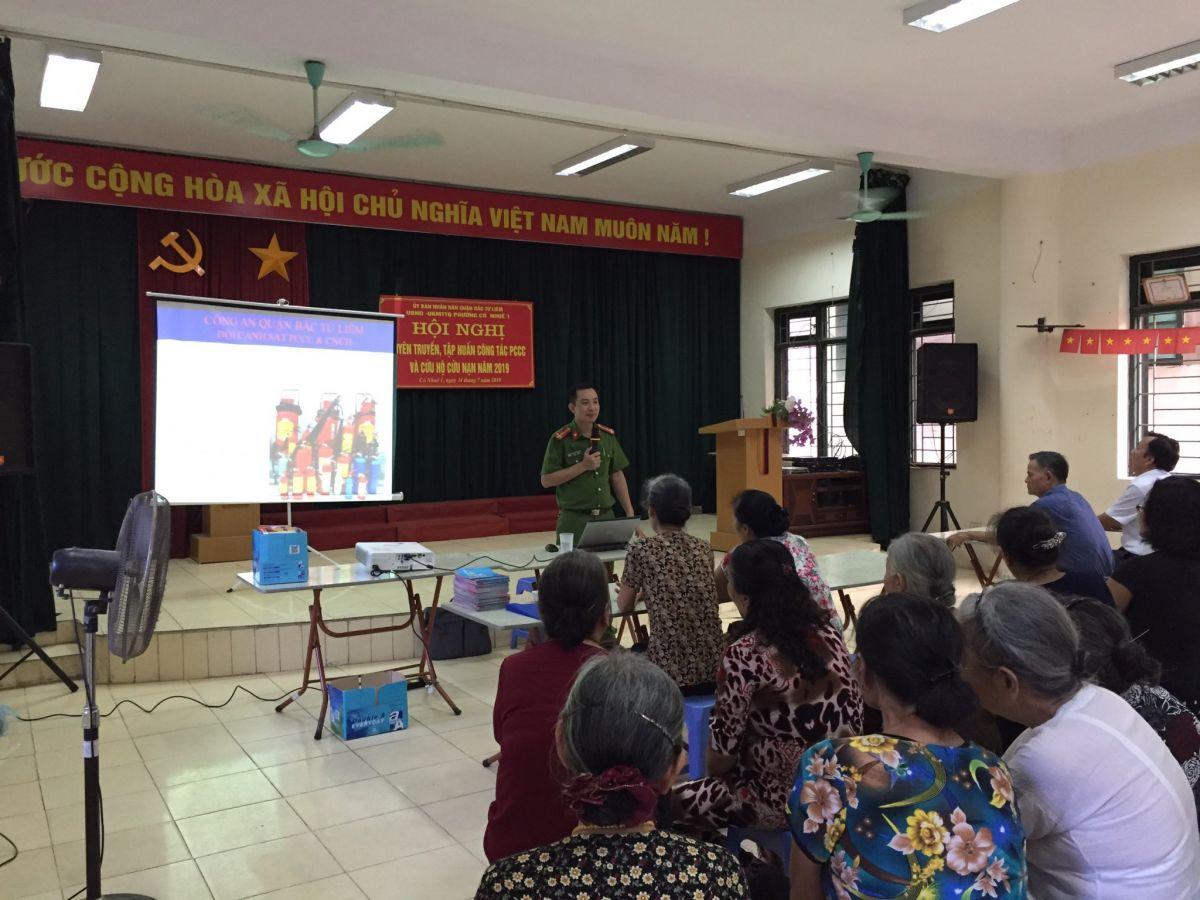 Hà Nội: Tổ chức tập huấn phòng cháy chữa cháy trên địa bàn