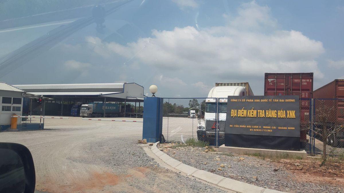 Bãi kiểm hóa của Công ty Tân Đại Dương nằm trong Dự án cầu Bắc Luân II