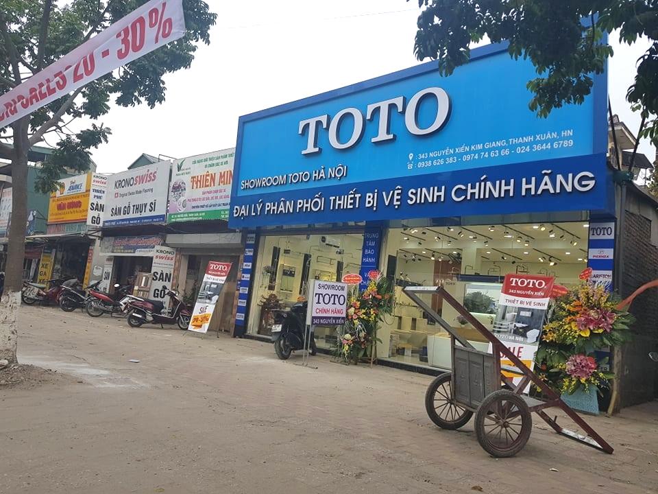 Showroom TOTO 343 Nguyễn Xiển của ông Trịnh sử dụng tên TOTO để quảng cáo sản phẩm